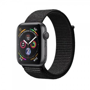Apple Watch Series 4 40mm GPS + Cellular Space Gray Aluminum Case with Black Sport Loop MTUH2