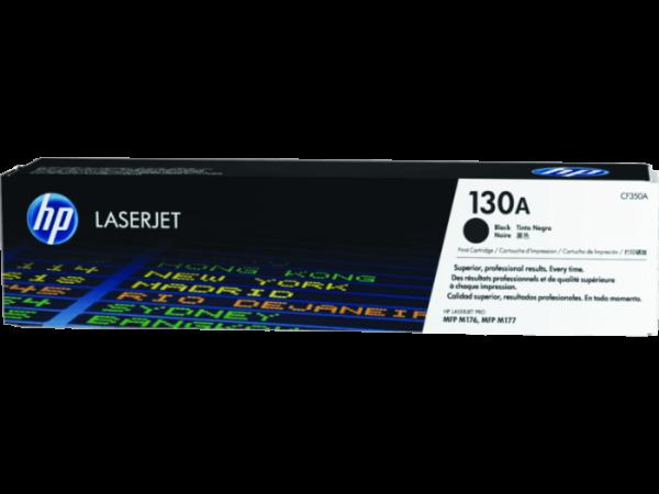 HP 130A Black Original LaserJet Toner Cartridge, CF350A
