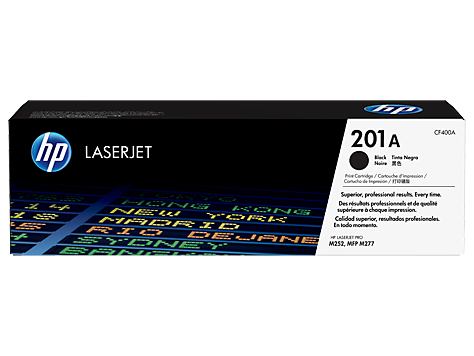 HP 201A Black Original LaserJet Toner Cartridge (CF400A)