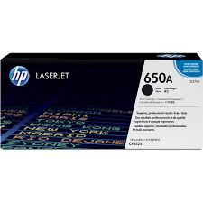 HP 650A Black Original LaserJet Toner Cartridge, CE270A