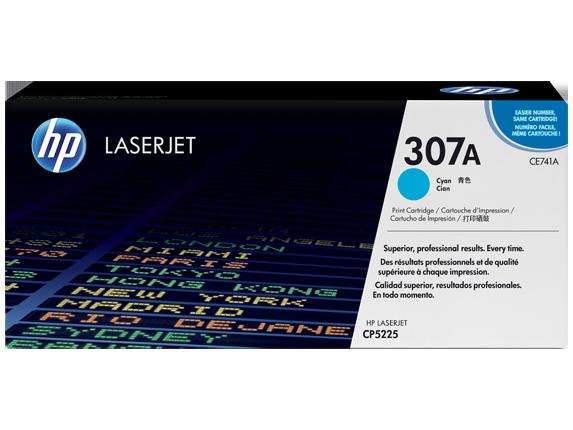 HP 307A Cyan Original LaserJet Toner Cartridge, CE741A
