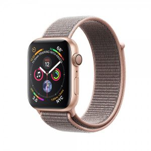 Apple Watch Series 4 40mm GPS + Cellular Gold Aluminum Case with Pink Sand Sport Loop MTUK2