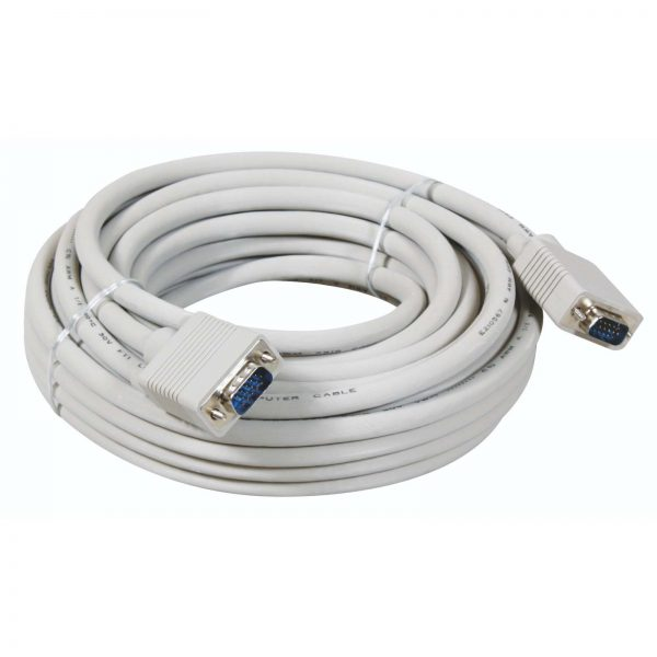 VGA CABLE WHITE 10 METER