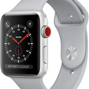 Apple Watch Series 3 42mm Silver Aluminum Case with Fog Sport Band GPS + Cellular MQK12