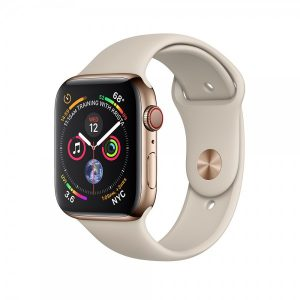 Apple Watch Series 4 44mm GPS + Cellular Gold Stainless Steel Case with Stone Sport Band MTV72