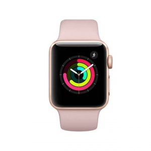 Apple Watch Series 3 42mm Gold Aluminum Case with Pink Sand Sport Band GPS + Cellular MQK32
