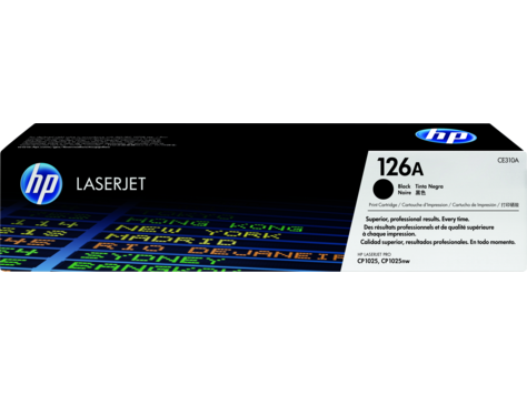 hp ce310a black toner cartridge