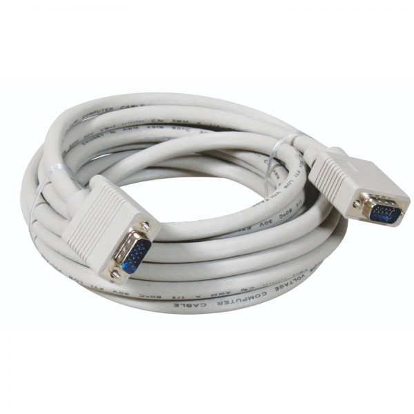 VGA CABLE WHITE 5 METER