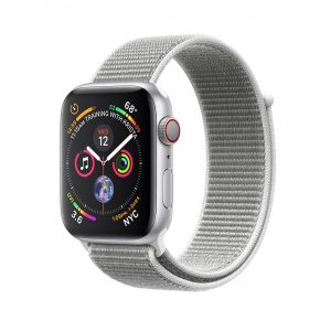 Apple Watch Series 4 40mm GPS + Cellular 40mm Silver Aluminum Case with Seashell Sport Loop MTUF2