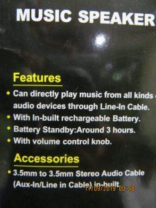Speaker BT Bluetooth