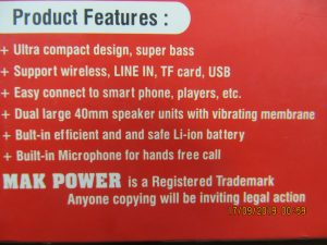 Xtreme Power Portable Wireless Speaker