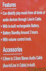 Speaker HX606 Bluetooth