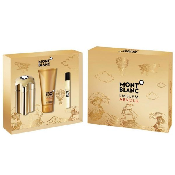 MONT BLANC EMBLEM ABSOLU MEN 3S SET