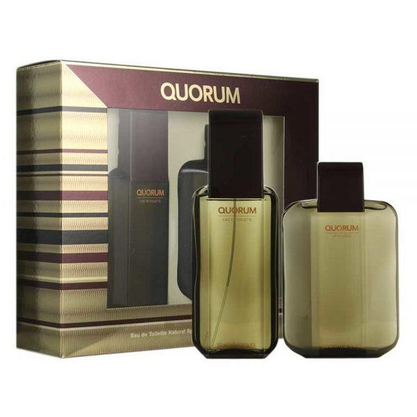 QUORUM M EDT 100ML AFTER SHAVE 100ML SET