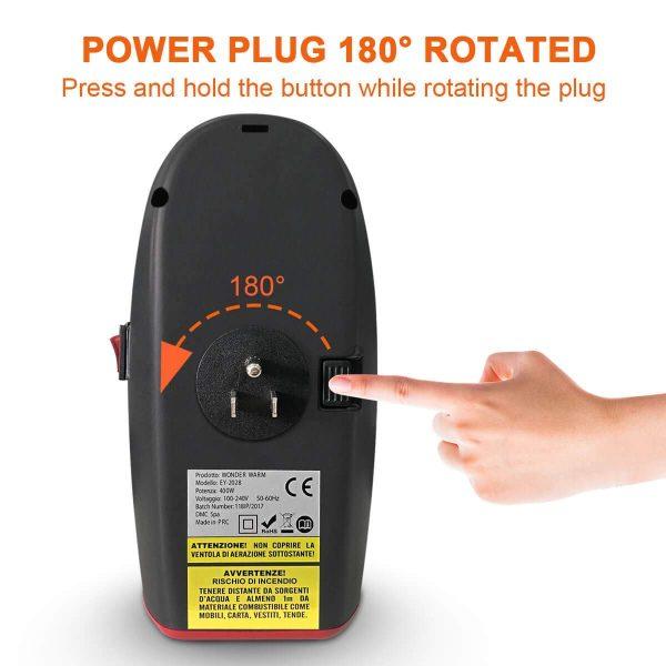 Wonder Warm Mini Electric Heater Remote Control 500W