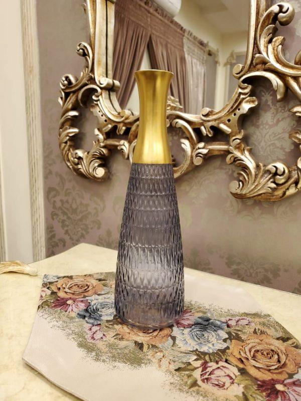 Colored Glass Flower Long Neck Vase
