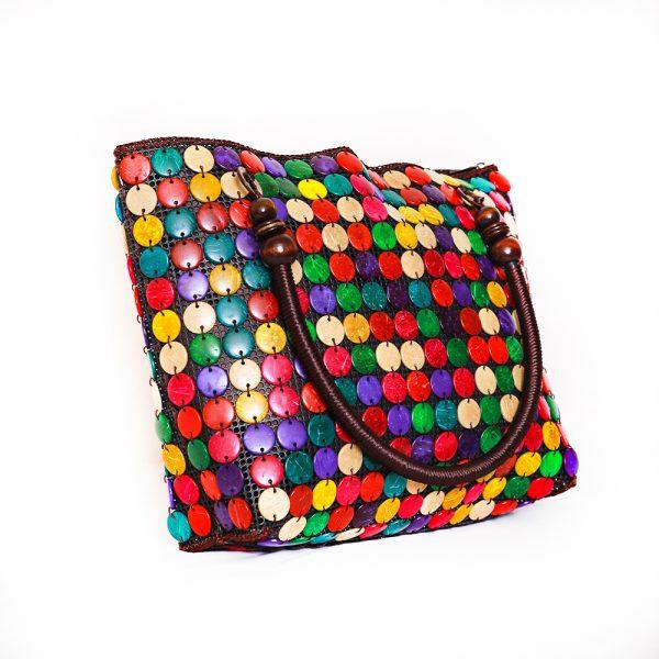 Multi-Color Buttons Ladies Hand & Shoulder Bag 42