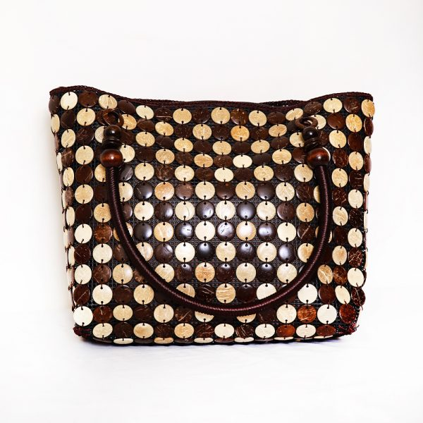 Multi-Color Buttons Ladies Hand & Shoulder Bag 40