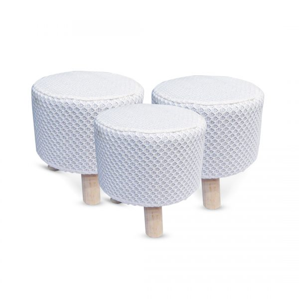 Wooden Stool for Kids With Removable Soft Fabric SET 11