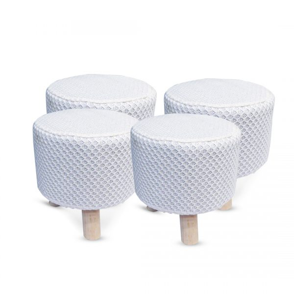 Wooden Stool for Kids With Removable Soft Fabric SET 12