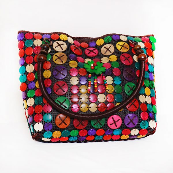 Multi-Color Buttons Ladies Hand & Shoulder Bag 41