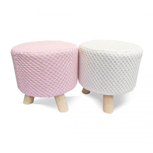 Wooden Stool for Kids With Removable Soft Fabric SET 05