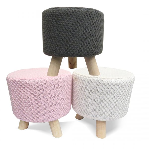 Wooden Stool for Kids With Removable Soft Fabric SET 06