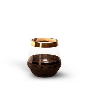 Dark Brown & Transparent Glass Decorative Accessories