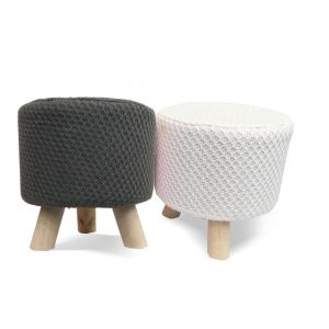 Wooden Stool for Kids With Removable Soft Fabric SET 07