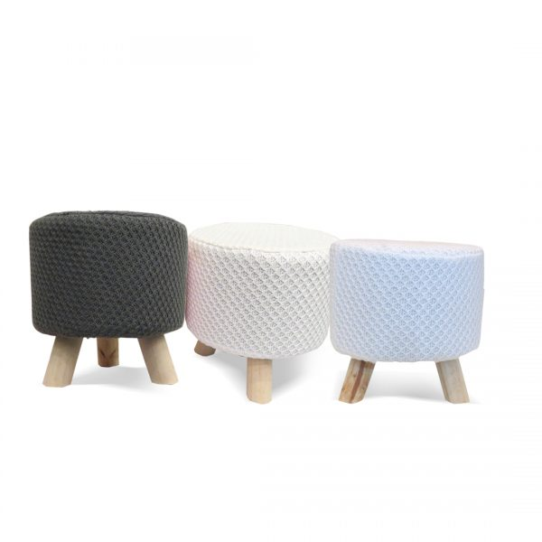 Wooden Stool for Kids With Removable Soft Fabric SET 08