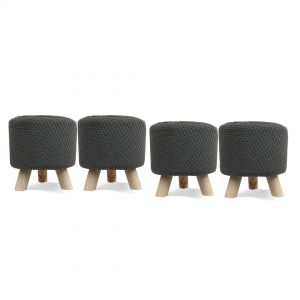Wooden Stool for Kids With Removable Soft Fabric SET 09