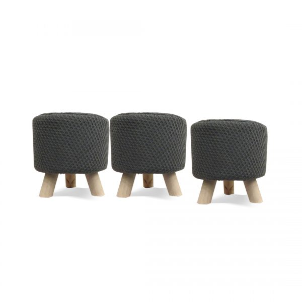 Wooden Stool for Kids With Removable Soft Fabric SET 38