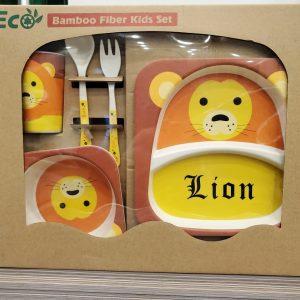 Eco-Friendly Kids Bamboo Fiber Dinner Set / Baby Dinner Set 1.3