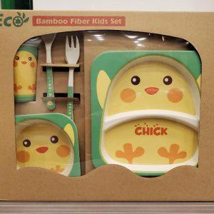 Eco-Friendly Kids Bamboo Fiber Dinner Set / Baby Dinner Set