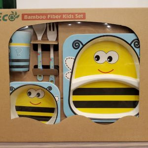 Eco-Friendly Kids Bamboo Fiber Dinner Set / Baby Dinner Set 1.4