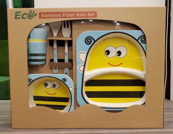 Eco-Friendly Kids Bamboo Fiber Dinner Set / Baby Dinner Set 1.4