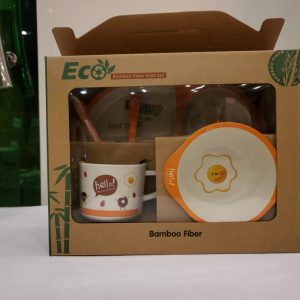 Eco-Friendly Kids Bamboo Fiber Dinner Set / Baby Dinner Set