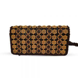 Brown Buttons Ladies Hand & Shoulder Bag 45