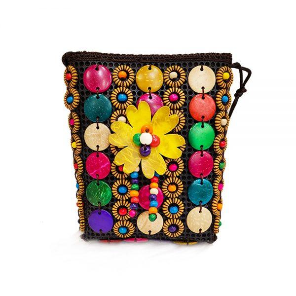 Multi- Color Buttons Ladies Hand & Shoulder Bag 48