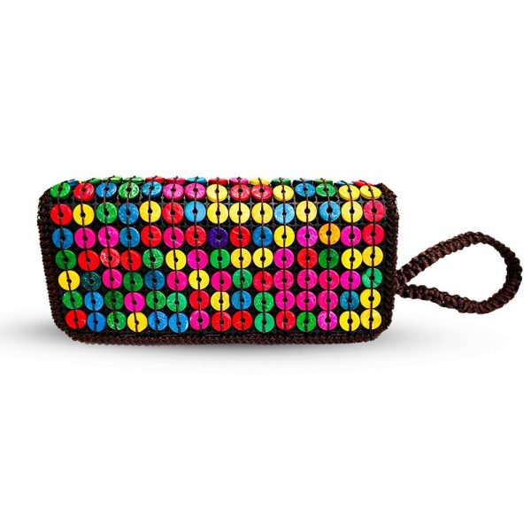 Multi- Color Buttons Ladies Hand & Shoulder Bag 47