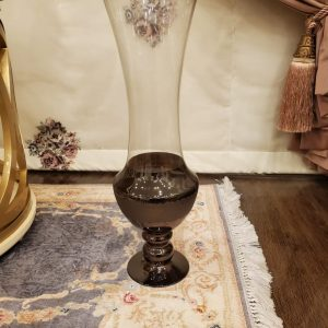 Chocolate color Footed Flute and Long neck Flowers Decorative Vase