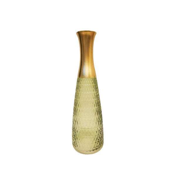 Colored Glass Flower Long Neck Vase