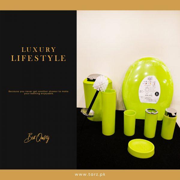 Bathroom Accessories 10 Pcs Set Color Green