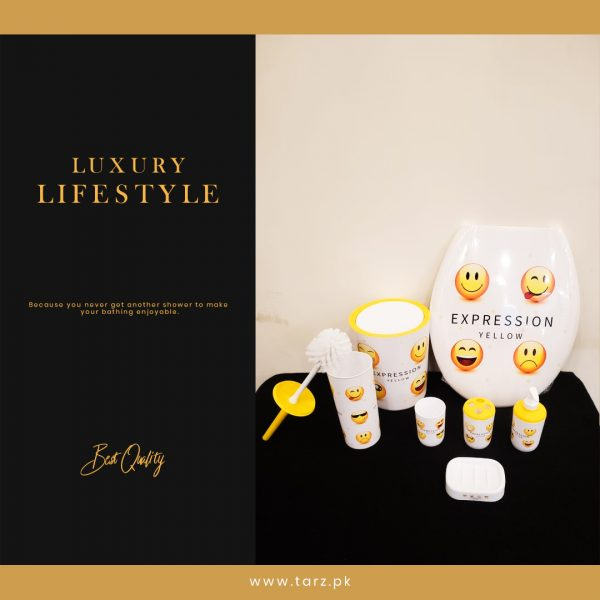 Bathroom Accessories 07 Pcs Set Expression Yellow