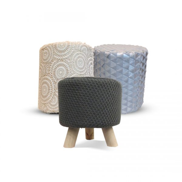 Fur Stool for Kids With Removable Soft Fabric ( 2 pairs ) 190