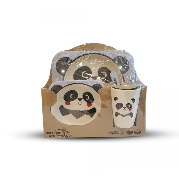 Eco-Friendly Kids Bamboo Fiber Feeding Set 2.4