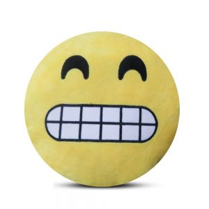 Emoji Emoticon Yellow Round Cushion Stuffed Pillow