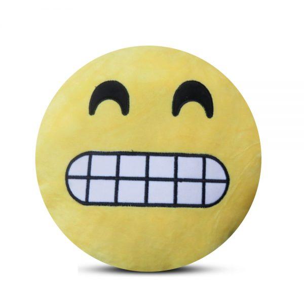 Emoji Emoticon Yellow Round Cushion Stuffed Pillow