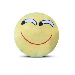 Emoji Emoticon Yellow Round Cushion Stuffed Pillow 01