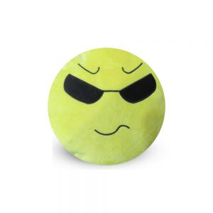 Emoji Emoticon Yellow Round Cushion Stuffed Pillow 02